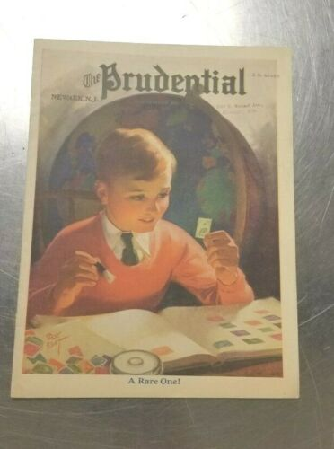 1936 Prudential Insurance Newark N.J. Vintage Newsletter- Boy Stamp Collector