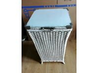 Lloyd loom style vintage laundry basket