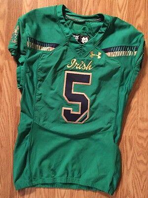 Notre Dame Football 2015 Shamrock Series Boston Game Used Jersey #5