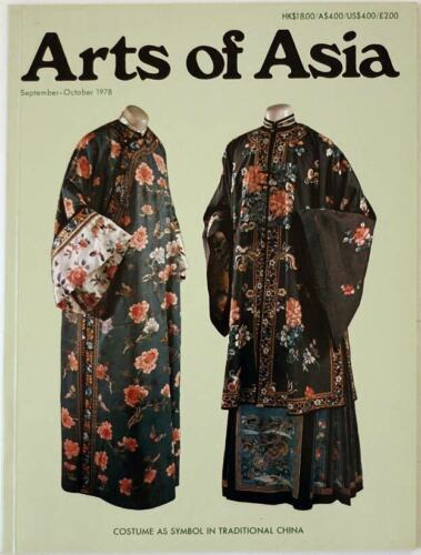 Arts of Asia magazine, Sep-Oct 1978, Chinese costumes