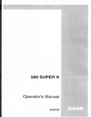 Case 580 Super K 580sk Operators Maint Manual Australia