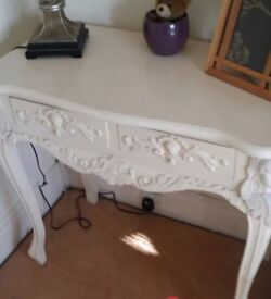 French table shabby chic dressing table console