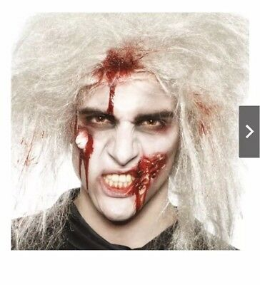 Zombie Make Up Kit Fancy Dress Halloween Undead Mens Ladies Adults Blood Gory - Mens Zombie Halloween Makeup