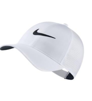0ef944974598a Nike Womens AeroBill Legacy91 Baseball Cap Hat - White   Black