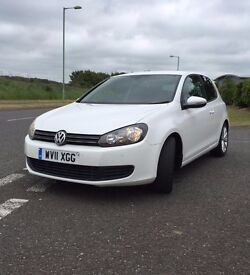 White 1.6 TDi golf 3dr Sport look & only £30 a year tax!! 2011 Plate - must See!