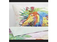 IKEA bedcovers parrot like new