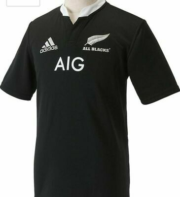 Mens New Zealand All Blacks Adidas Rugby Union Shirt Size XL
