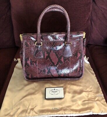 PRADA Purse - Pitone Lucido Python - Amarena Color.   Original Price (Prada Colors)