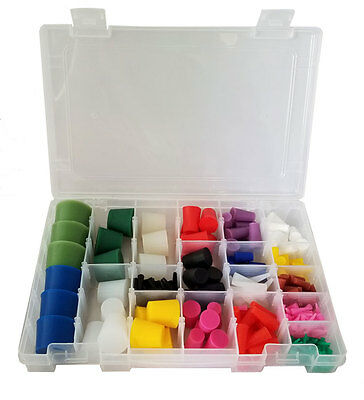 High Temp Silicone Plug Kit For Paint And Powder Coat - 250 Pieces With Case