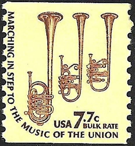 Mint 1976 SAXHORNS STAMP Marching In Step To The Music Of The Union Saxhorn Band