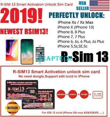 RSIM 13+ 2019 R-SIM Unlock iPhone XS/X/8/7/6/6s/XS MAX iOS 12 13 10 11 RSIM13
