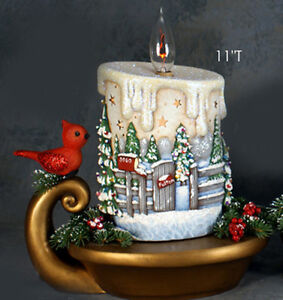 Ceramic bisque ready to paint small christmas candle with for Bisque ceramic craft stores