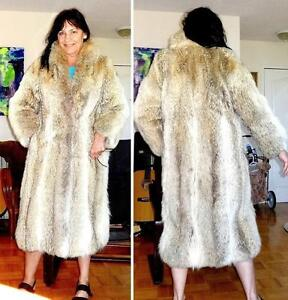 FULL LENGTH $5000 FUR COAT MIDI LGTH M 10 VINTAGE / VERY WARM AND THICK