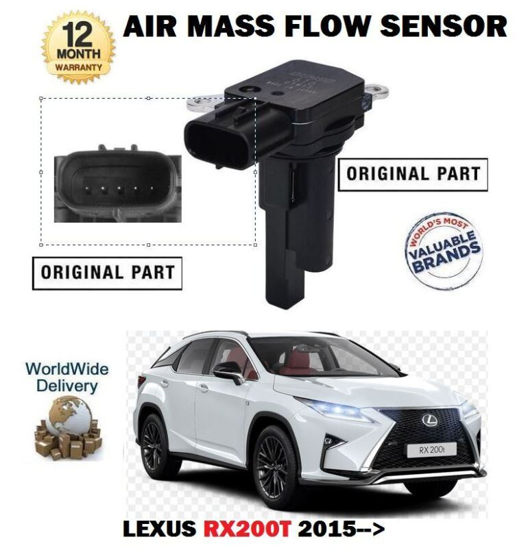 FOR LEXUS RX200T 2.0 8AR-FTS 2015--> NEW ORIGINAL AIR MASS FLOW SENSOR