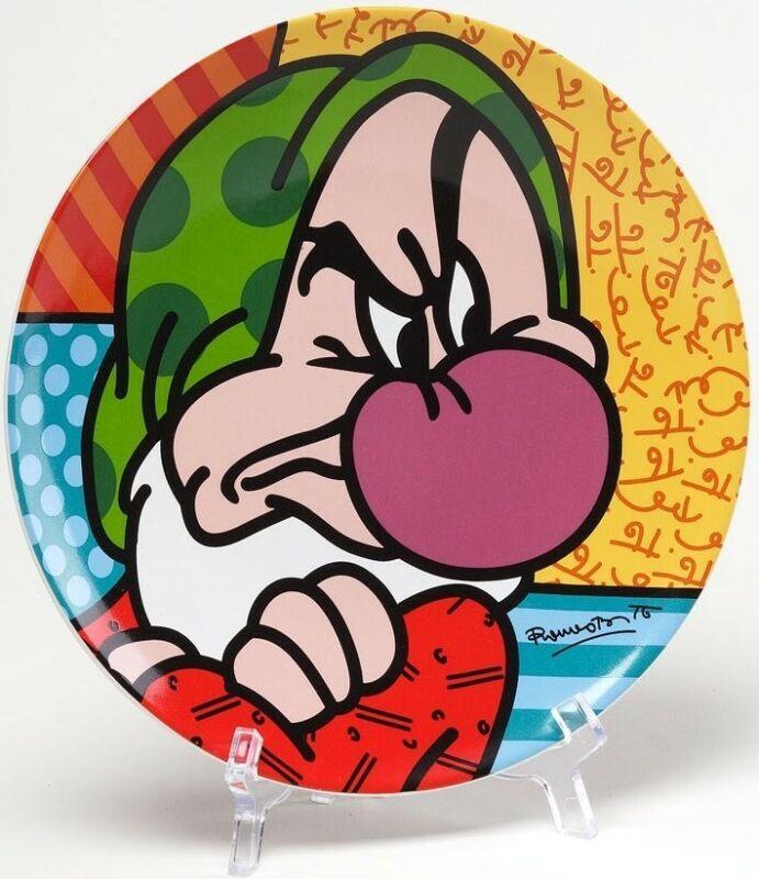 Britto Disney 4024812 Grumpy Plate Plate New in Box