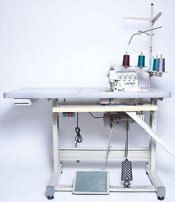 Juki 3-thread Overlock Sewing Machine Wtable Servo Motor Mo-6704s Compelete