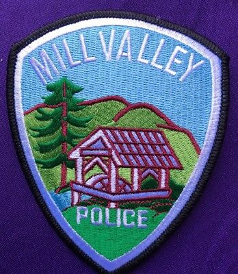 New Mill Valley Police Department California Embroidered Patch Rare