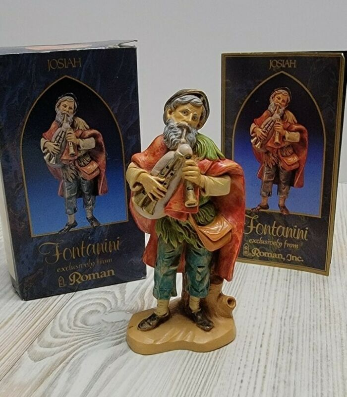 """Vintage 1993 Fontanini Depose JOSIAH with BAGPIPES 5"""" Collection #72552"""