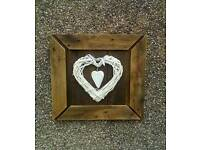 Hand Crafted Pallet wall art 3D heart design.All Fittings Included.