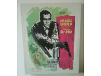 James Bond canvases - Dr No & Diamonds are Forever