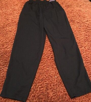 Chef Design Traditional Medium Unisex Baggy Black Chef Pants Elastic Waist