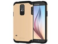 JETech 3012 Case for Samsung Galaxy S5, Protective Cover, Gold - NEW