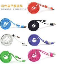 1M Flat Noodle Micro USB Charger Sync Data Cable for Android Samsung TA