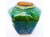 CHINESE GINGER JAR, 1850-1889, HEXAGONAL WITH A JADE GLAZE