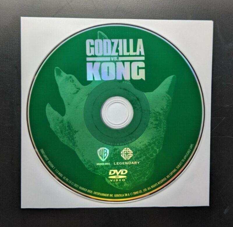 Godzilla vs. Kong DVD (Disc Only) No Case