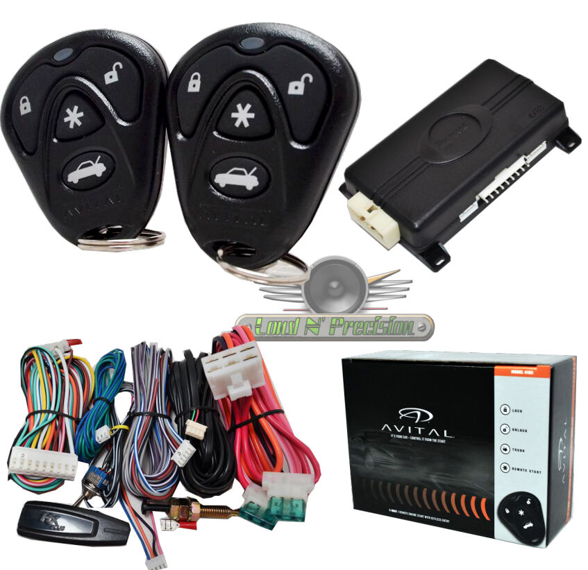 avital  car remote start  keyless entry  avital