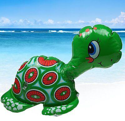 re Schildkröte / Turtle; 26 cm (Party-Deko, Strandspielzeug) (Aufblasbare Schildkröte)