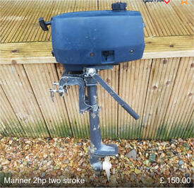 Mariner 2hp two stroke outboard engine