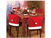Set of 4 Christmas Chair Covers - Great for Christmas Dinner Parties / New Years Eve