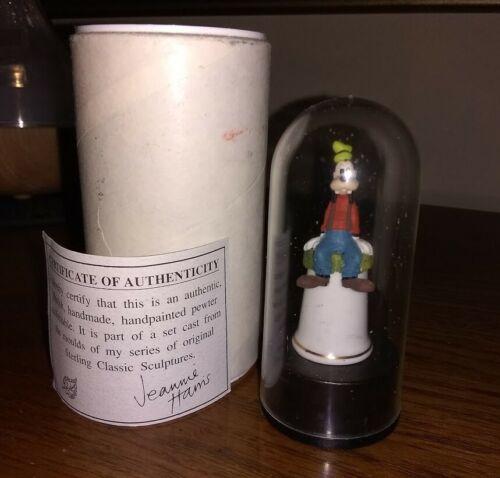 Disney GOOFY Sterling Classics Porcelain Thimble Base & Dome
