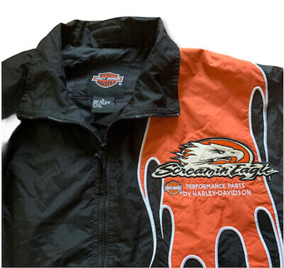 Vintage Harley Davidson Screaming Eagle Jacket XL Windbreaker