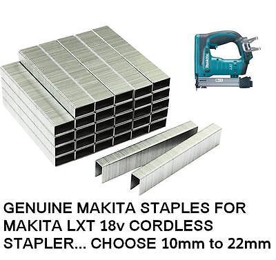 Makita Staples For Makita Cordless Stapler Dst221 Box Of 5040 10mm To 22mm