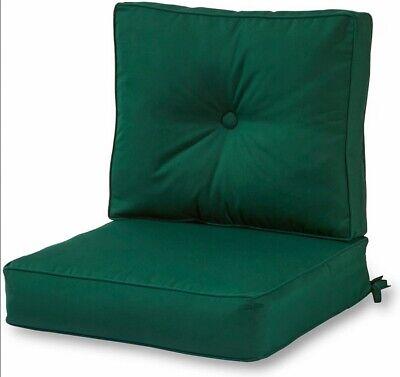 Greendale Sunbrella Outdoor Deep Seat Chair Cushion Set, Forest Green NEW Sunbrella Outdoor Chair Cushions