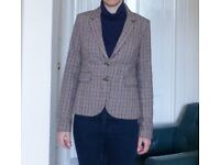 Beige Brown Houndstooth Jacket by Only Size 12/40