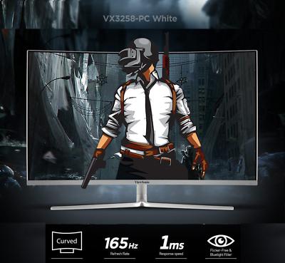ViewSonic VX3258-PC 1800R Curved 165Hz Gaming Monitor (White) AMD FreeSync
