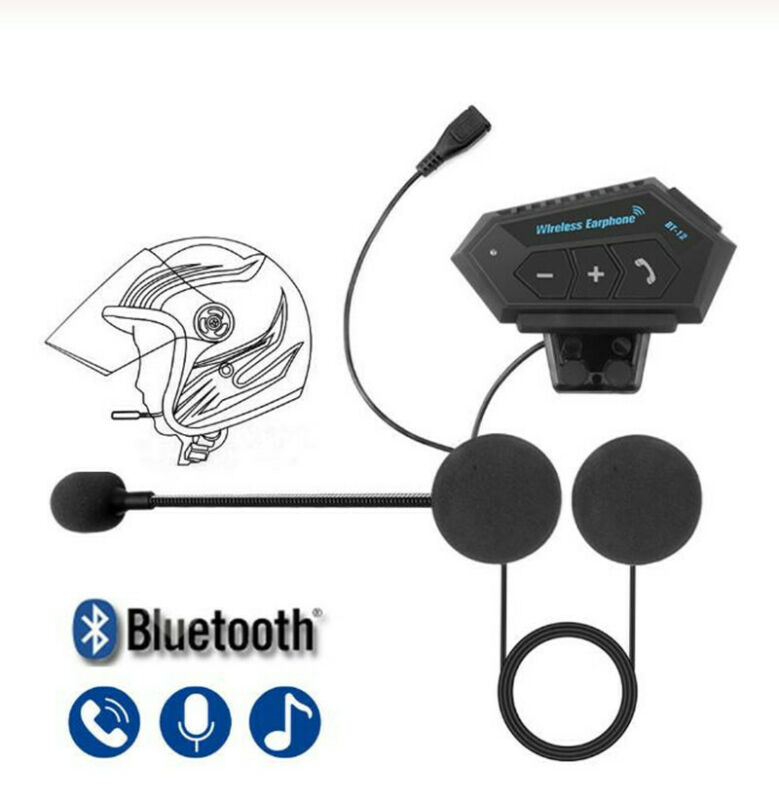Bluetooth 5.0 Helmet Headset Speaker Headphone for Motorcycle Motorbike Intercom