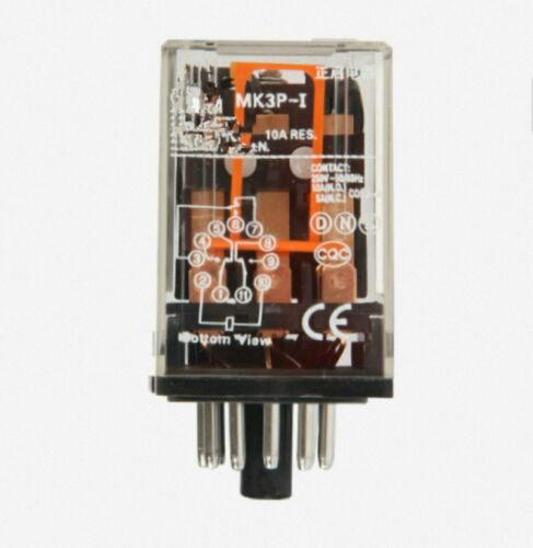 MK3P-I DC 24V Coil 11 Pins  Power Relay With PF113A Socket Base