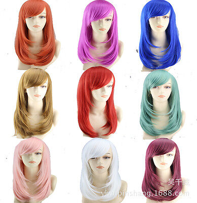 Fashion Medium-length Full Curly Wigs Cosplay Costume Anime Party Hair Wavy Wig ()