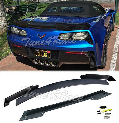 For 14-Up Corvette C7 Stage 3 Rear Trunk Spoiler smoke tinted Stingray Z06 Z07 for sale  Shipping to Canada