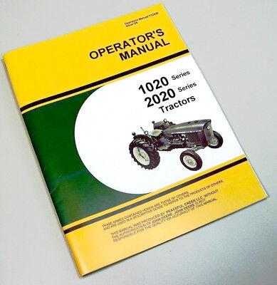 Operators Manual For John Deere 1020 2020 Tractor Owners Gas Diesel Hu Lu Book
