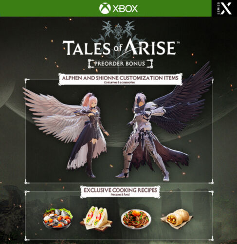 Xbox One / Series X Tales of Arise - Pre Order Bonus DLC - Costumes, Recipes
