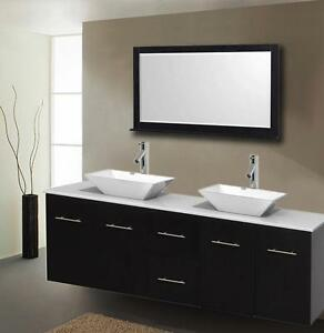 "60"" Wall Mounted Bathroom Vanity - COMPLETE SET"