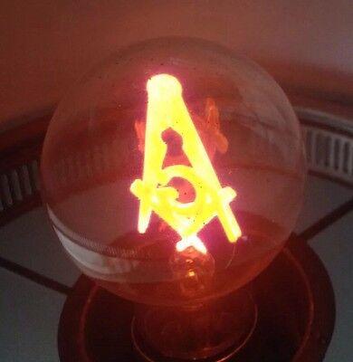 Vintage Aerolux Freemason Masonic Filament Cheer Light Bulb W/Box & Inserts *