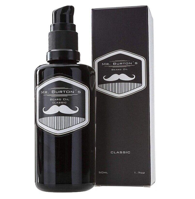 Bartöl - Mr. Burtons Beard Oil - CLASSIC - unverwechselbarer Duft - 50ml Bart