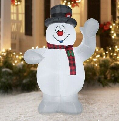 NEW Frosty the Snowman 5 Foot Airblown Inflatable Outdoors Christmas Lights Up