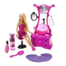 Barbie Style Salon. Excellent condition. Barely used. Box damaged but available.